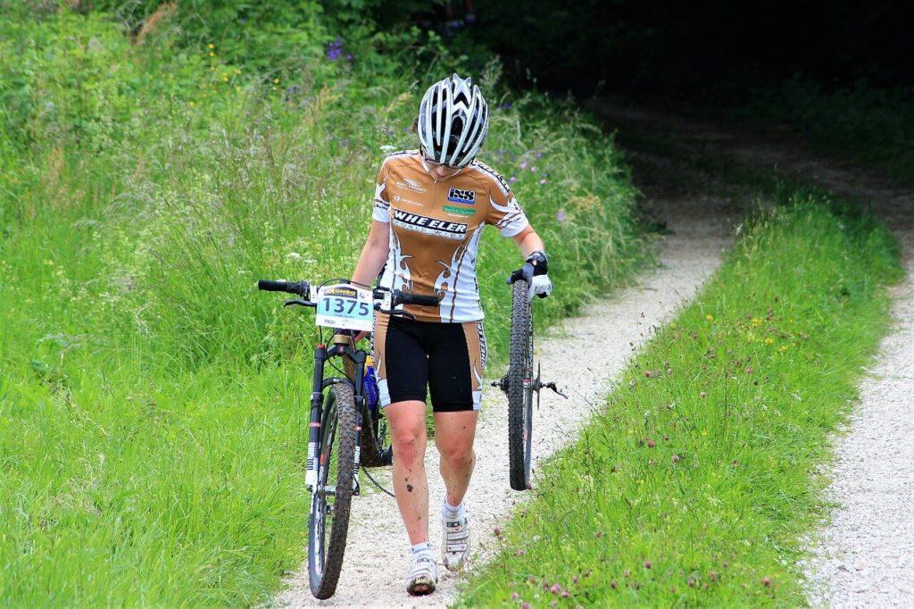 accidente con la bicicleta